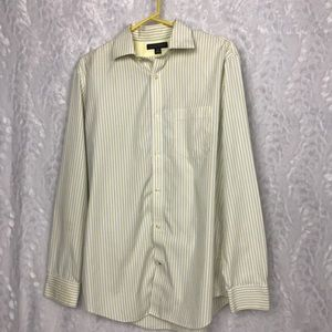 Banana Republic mens yellow blue striped shirt Med